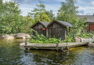 Hütten in Schweden