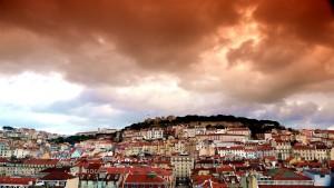 Himmel über Lissabon