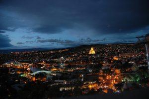 Panorama Tiflis bei Nacht