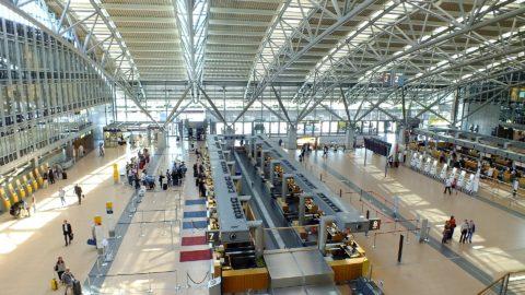 Flughafen Hamburg Abflughalle